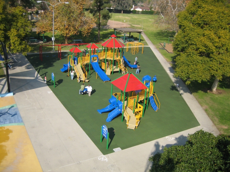 SpectraBound Tile System at Dalton Park in Los Angeles, CA.