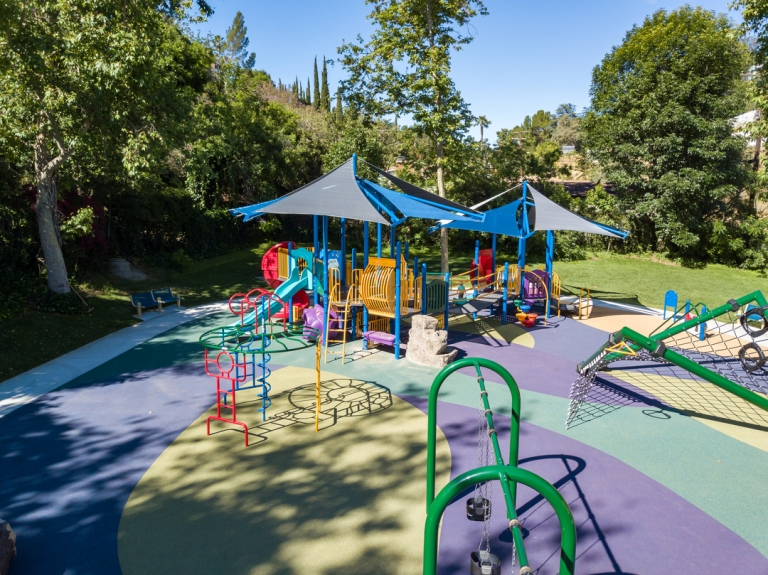SpectraPour System at Cleland Park in Los Angeles, CA.