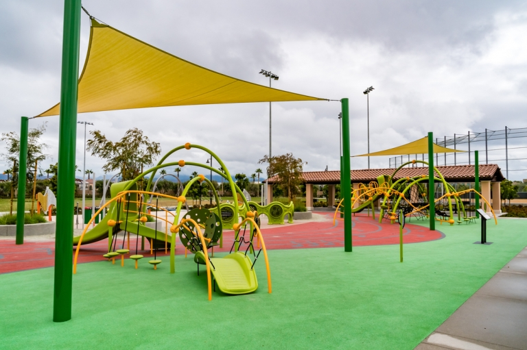 SpectraPour System at Los Olivos Park in Irvine, CA.