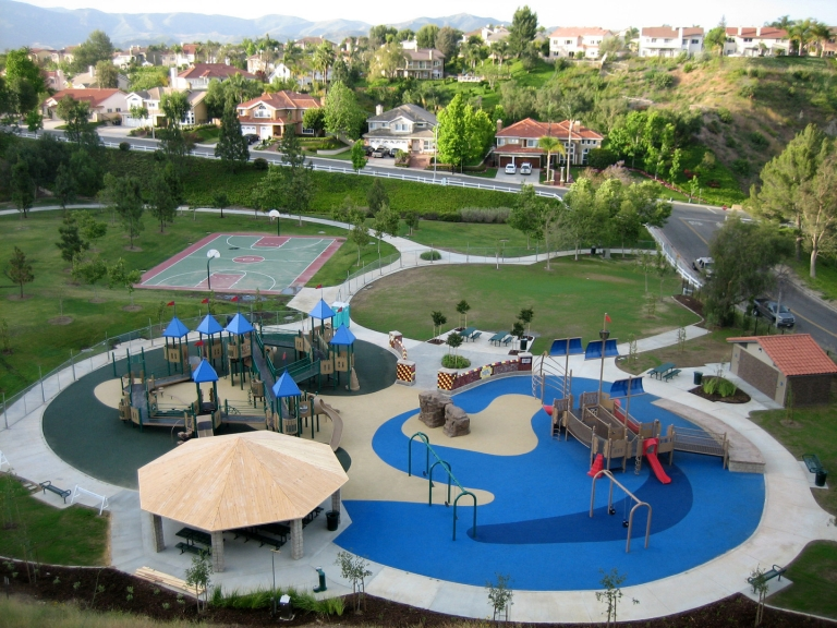 SpectraPour System at Box Canyon Park in Yorba Linda, CA.