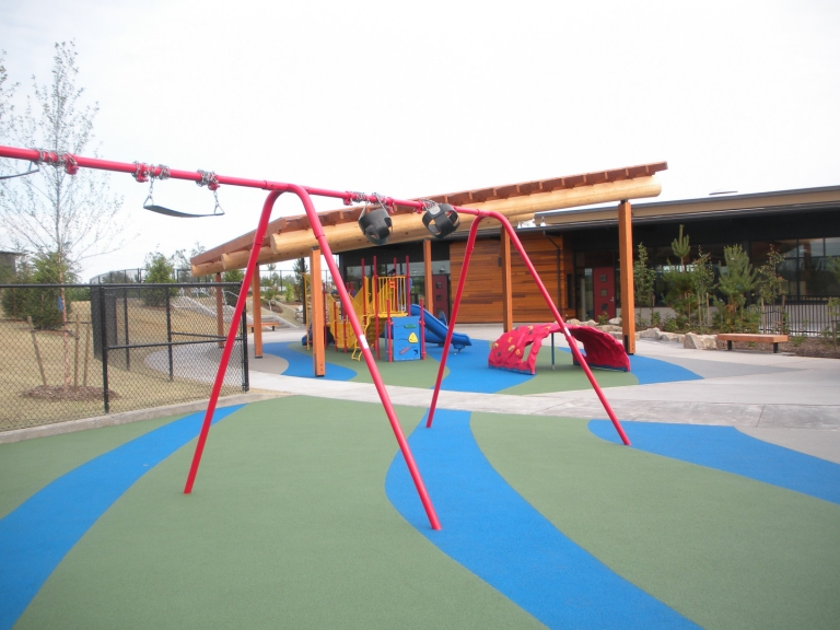 SpectraPour System at Muckleshoot Early Childhood Center in Auburn, WA.