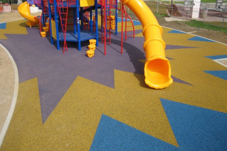 SpectraPour CA System at Morgan Park in Baldwin Park, CA.