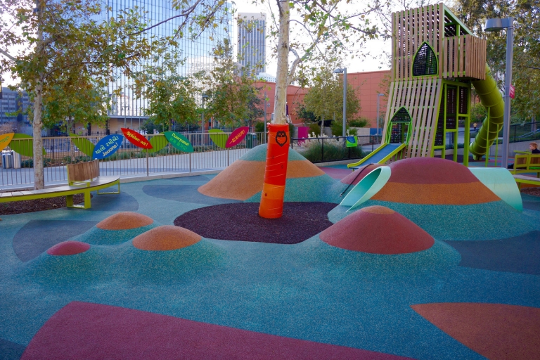 SpectraPour System at Grand Park in Los Angeles, CA.