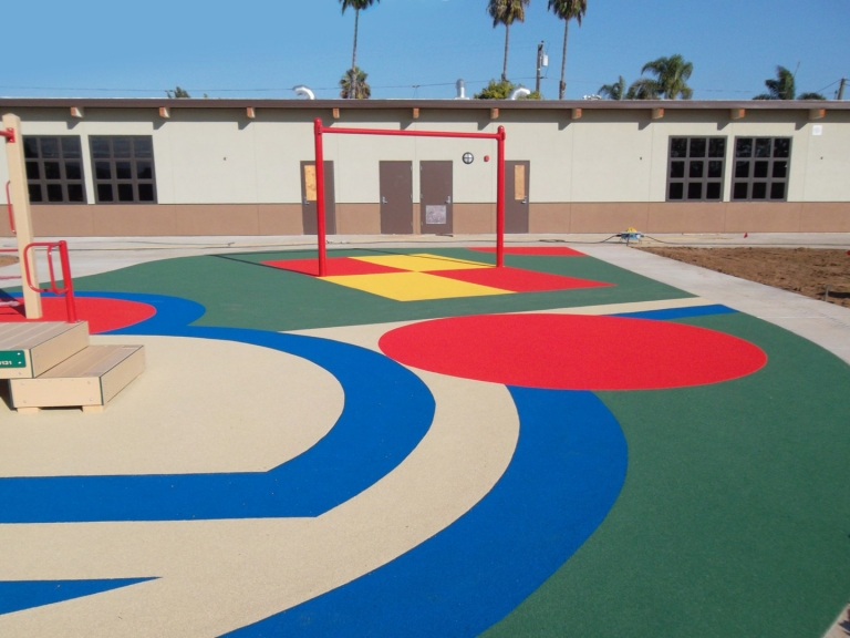 SpectraPour System at Libby Elementary School in Oceanside, CA.