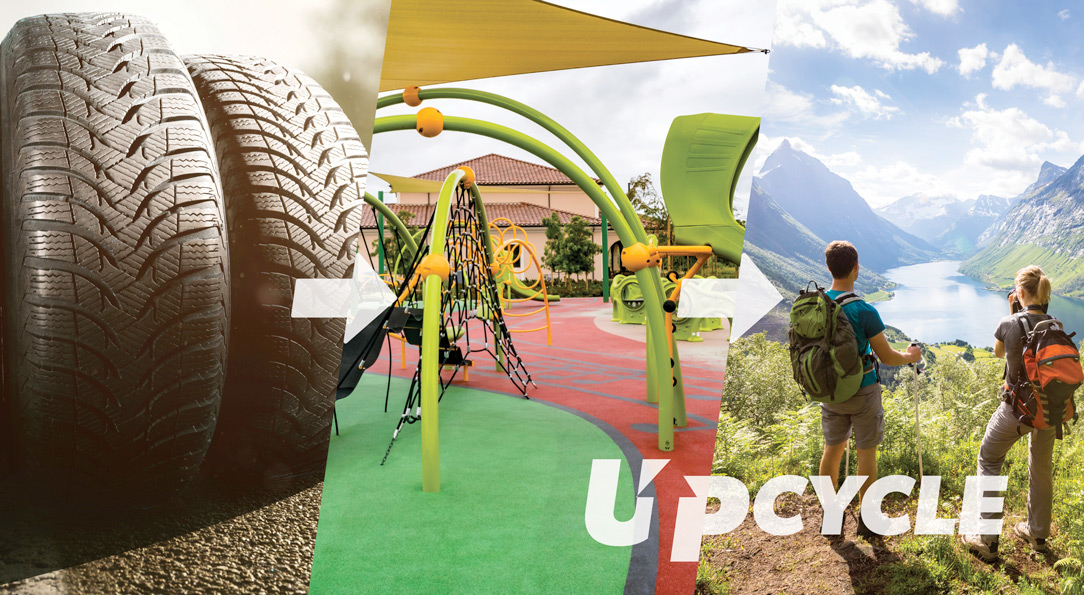 Tire wasted upcycled into playground surfacing is good for the environment